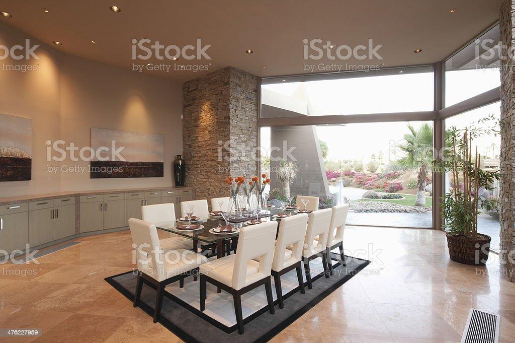 Spacious Dining Room stock photo