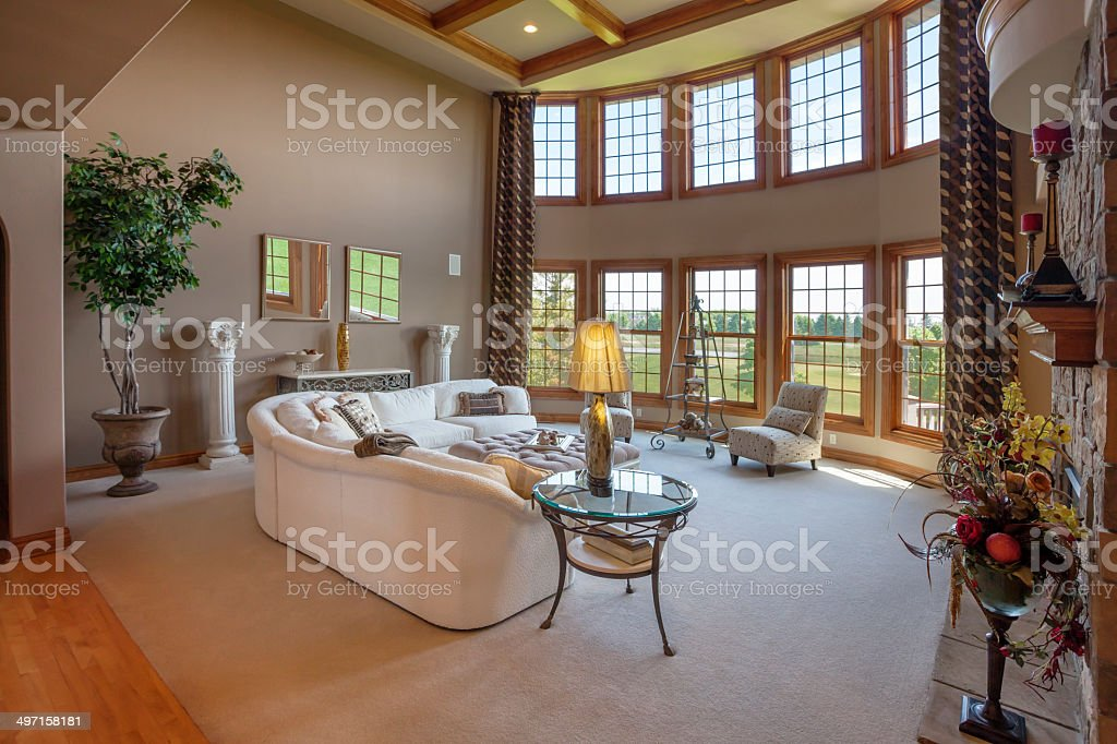 Spacious Great Room With a View stock photo