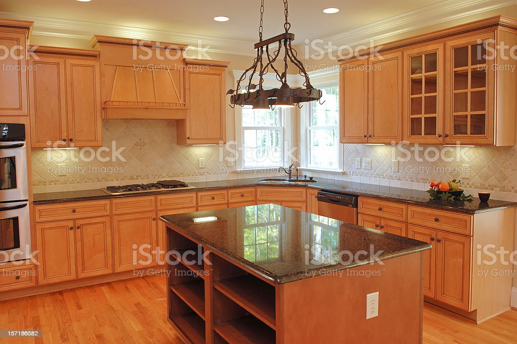 Spacious Kitchen royalty-free stock photo