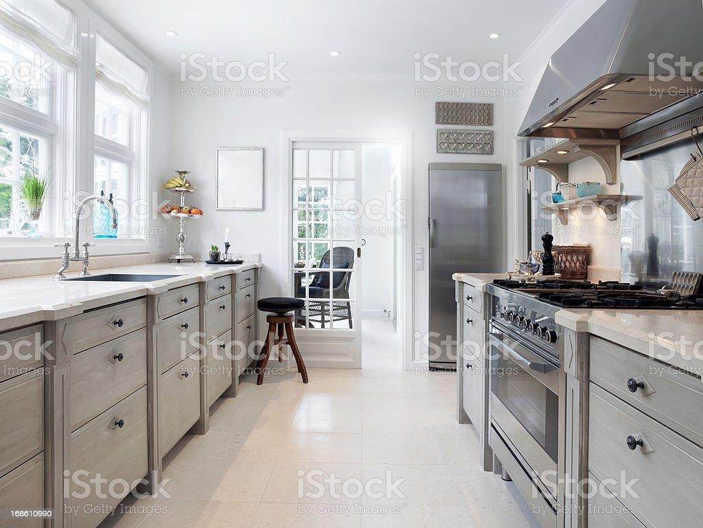 Spacious kitchen stock photo