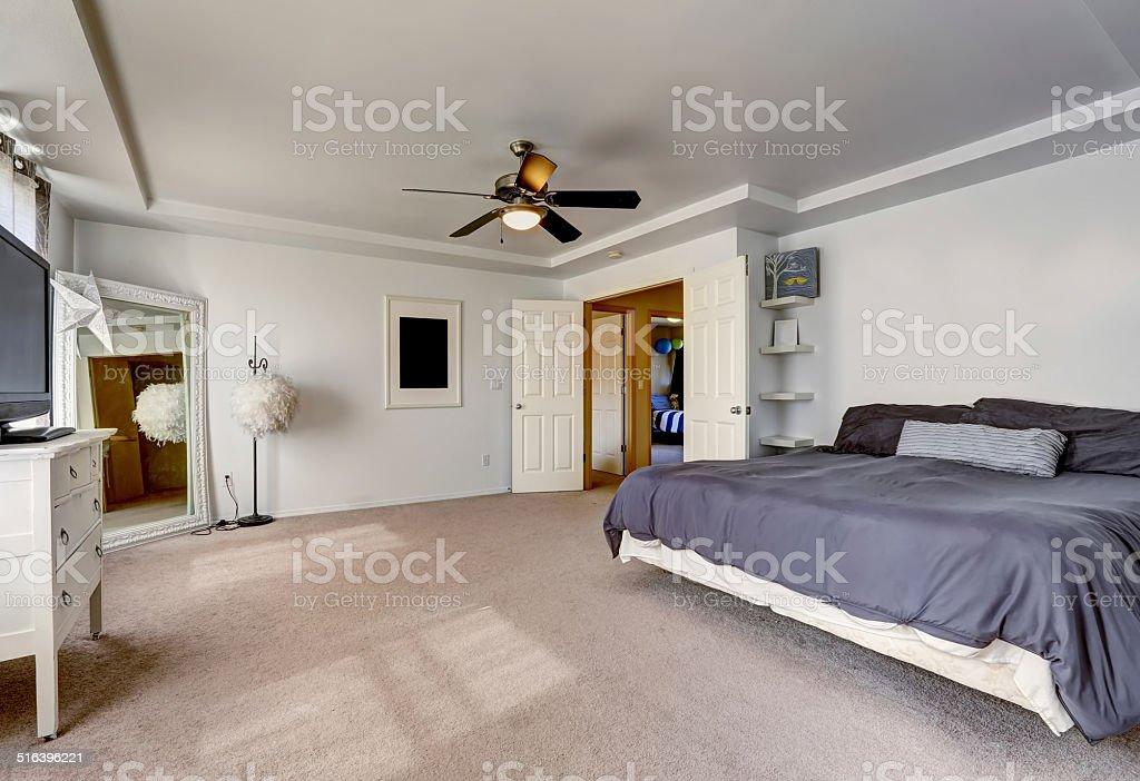 Przestronne Główna Sypialnia Z Dużym łóżkiem Zdjęcia