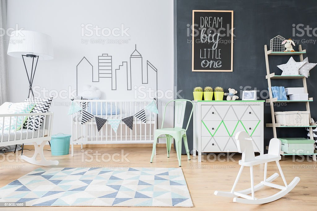 Spacious place for a baby stock photo