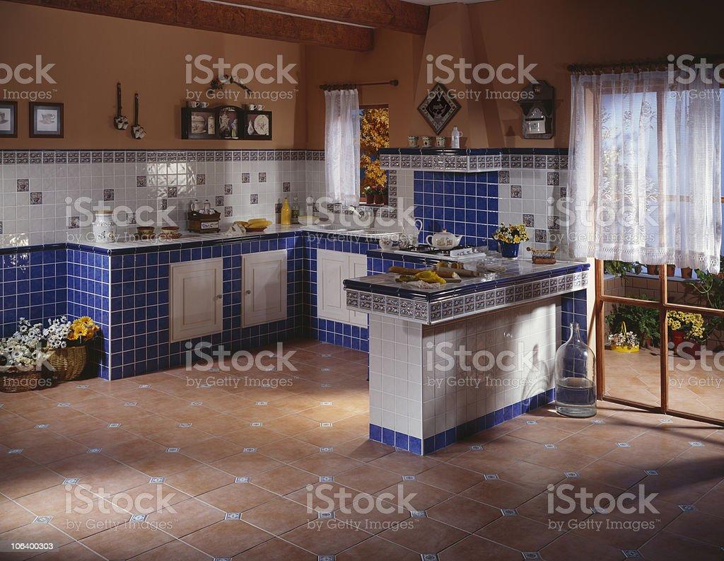 Spacious Rustic Kitchen stock photo