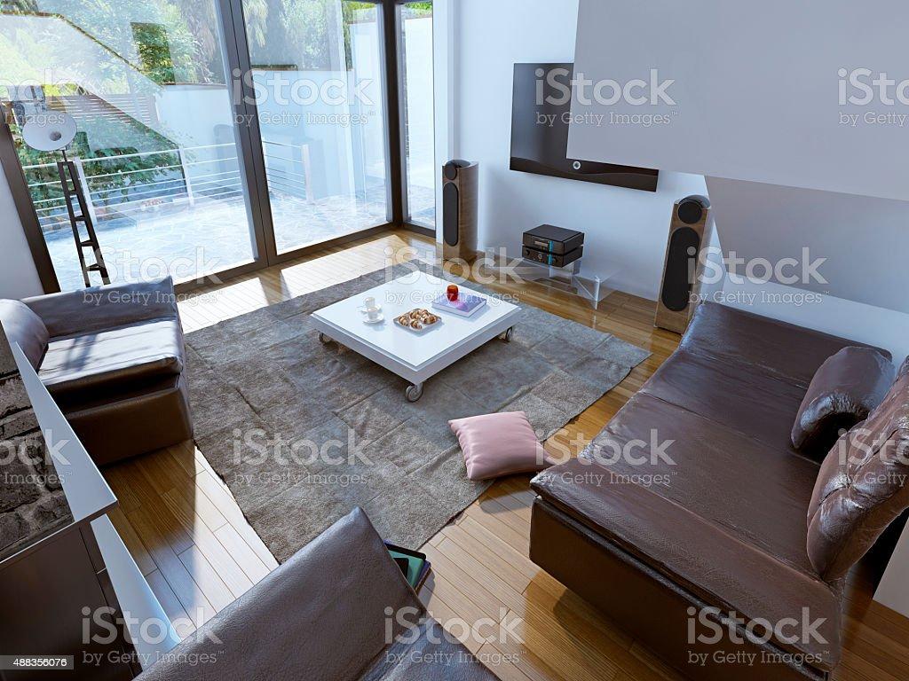 Geräumige Wohnzimmer Trend Stockfoto und mehr Bilder von ...