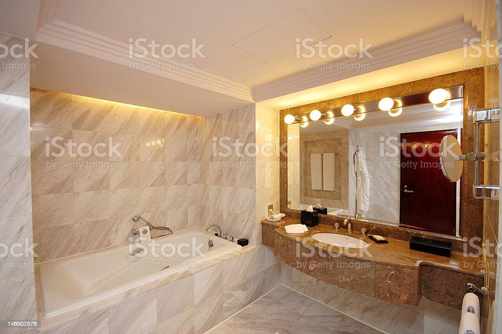 Spacious Toilet royalty-free stock photo