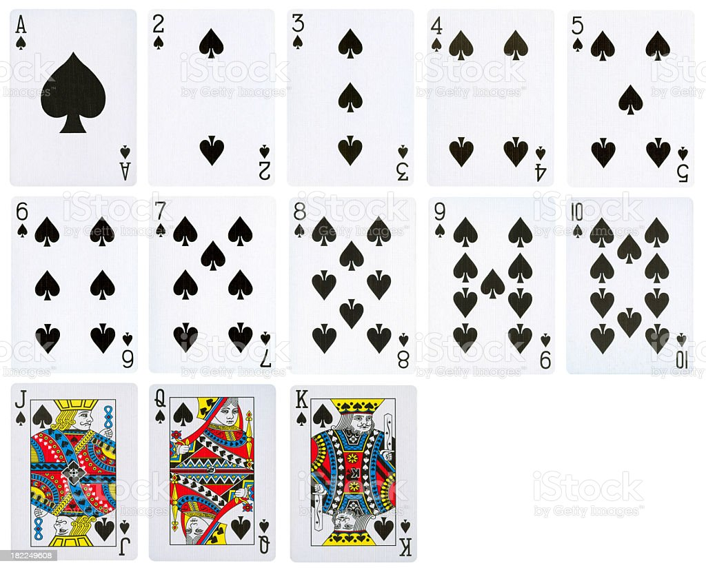 Spade Suit of playing Cards (High Quality) royalty-free stock photo