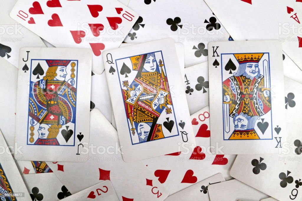 Spades court cards Victoria Diamond Jubilee playing cards stock photo