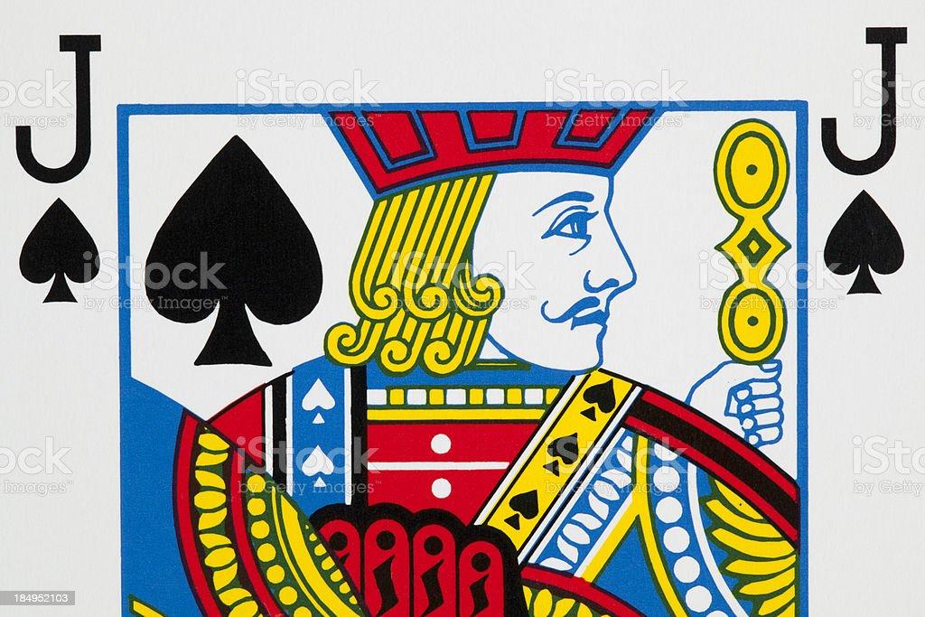 Spades jack stock photo