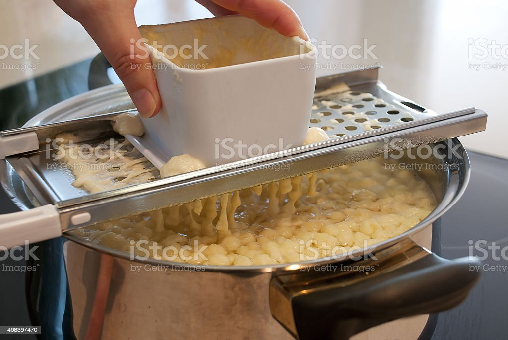 spaetzle dough - ingredients stock photo