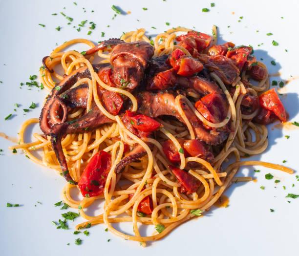 Spaghetti alla Luciana stock photo