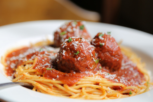 Spaghetti And Meatballs Stock Photo - Download Image Now