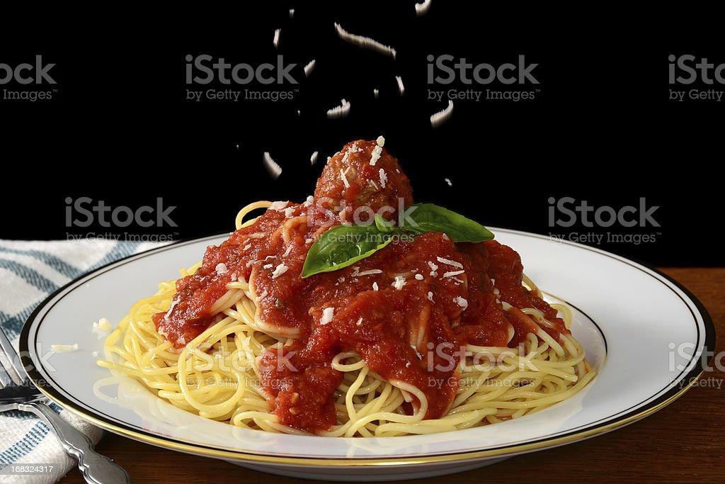 Spaghetti and Meatballs stock photo