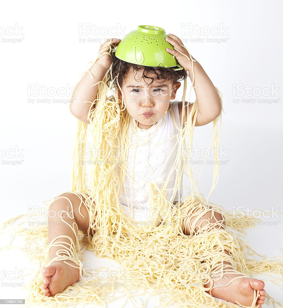 Spaghetti Baby royalty-free stock photo