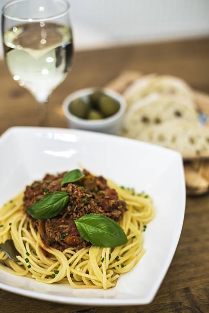 Spaghetti Bolognese Mahlzeit. – Foto