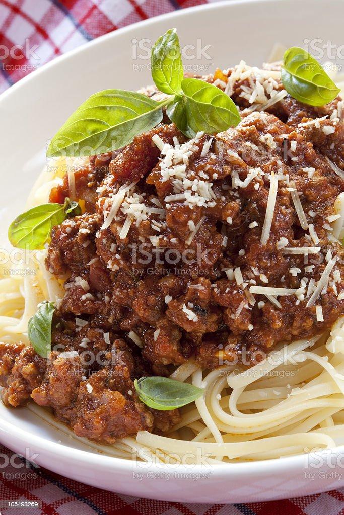 Spaghetti Bolognese royalty-free stock photo
