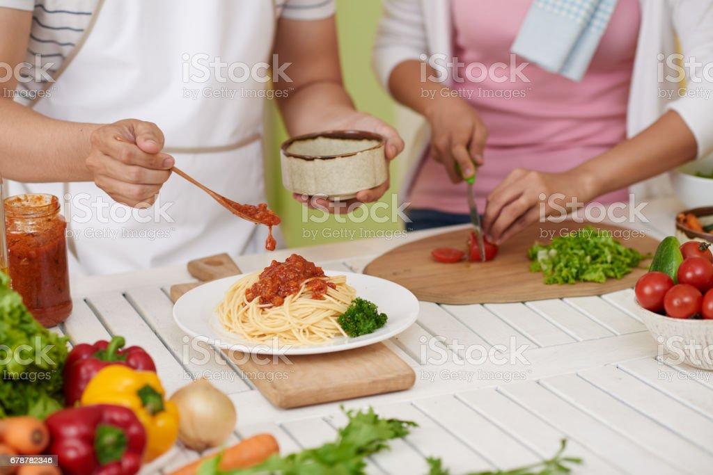 Spaghetti bolognese photo libre de droits