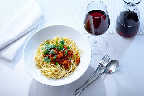 Espaguete à bolonhesa - foto de acervo