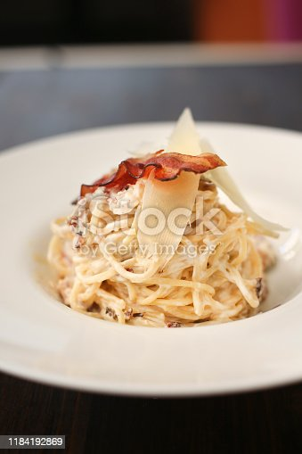 Traditional Italian pasta - Spaghetti Carbonara