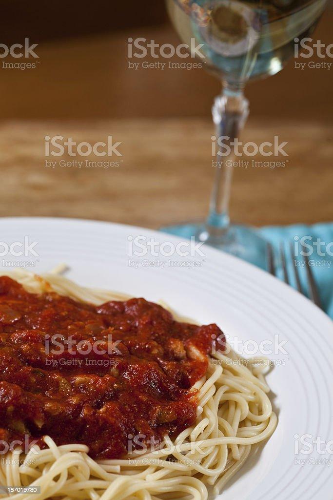 Spaghetti dinner royalty-free stock photo