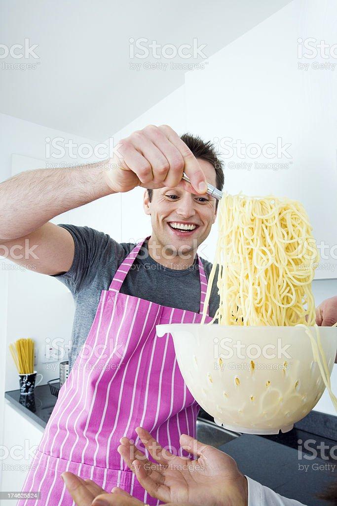 Spaghetti fun stock photo