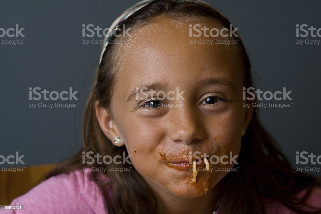 Spaghetti Girl royalty-free stock photo