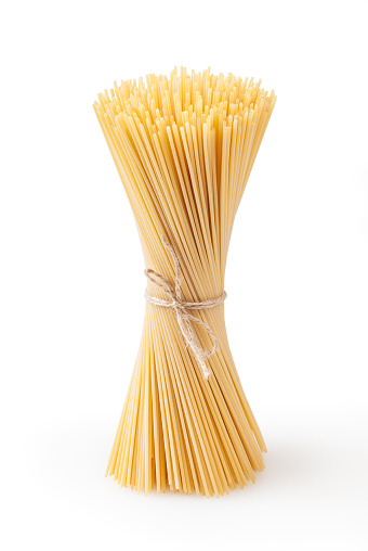 Spaghetti isolated on white background with clipping path
