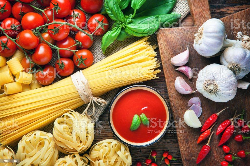 Spaghetti italian food stock photo