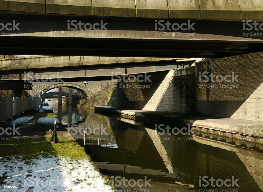 Spaghetti Junction - Tame Valley Canal royalty-free stock photo