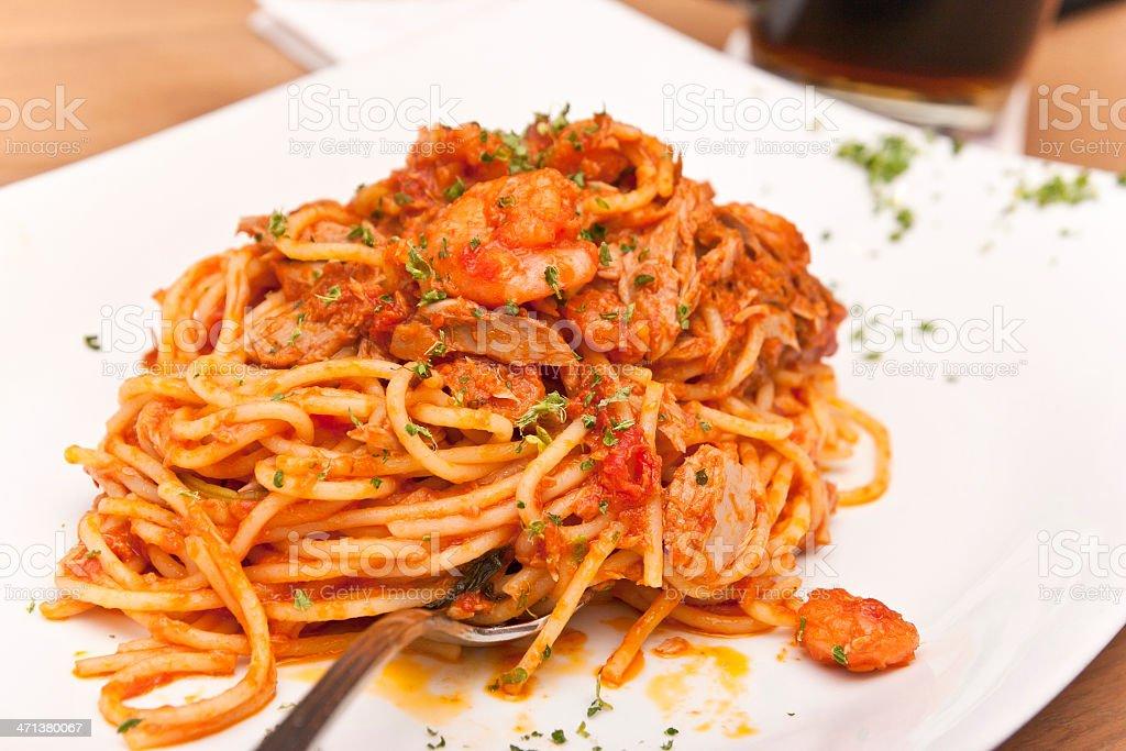 Spaghetti Marinara royalty-free stock photo