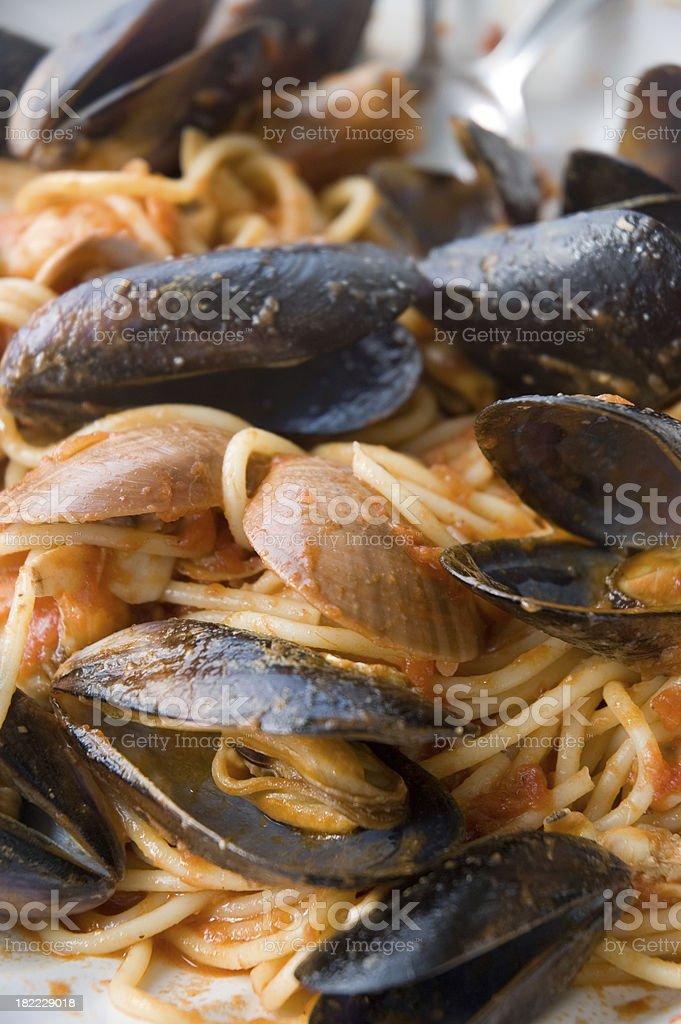 Spaghetti Marinarra royalty-free stock photo