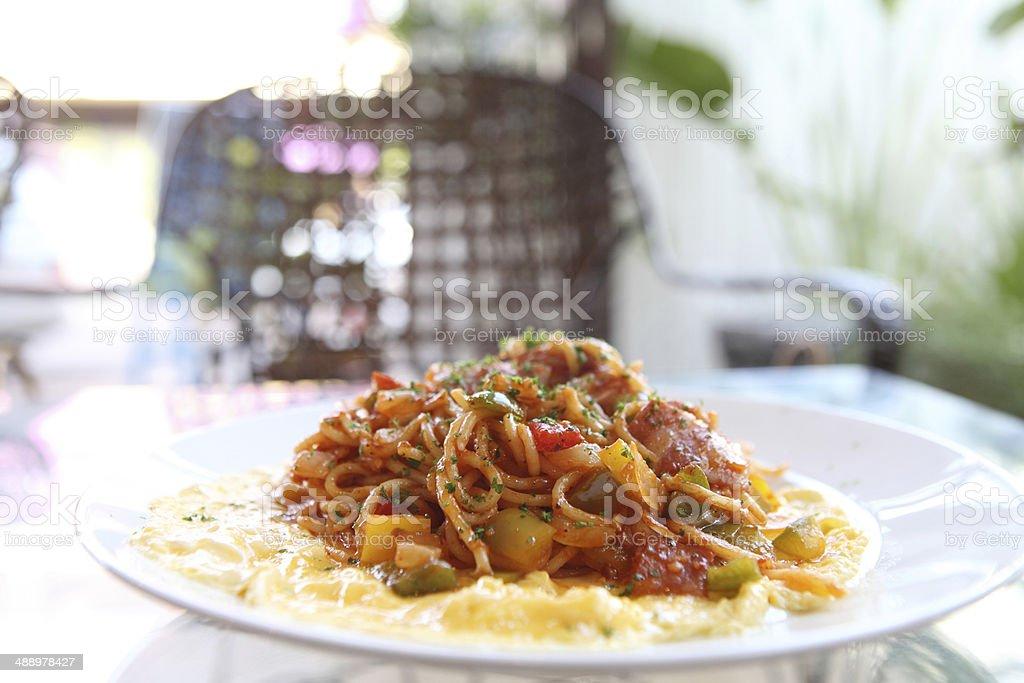 spaghetti napolitan stock photo