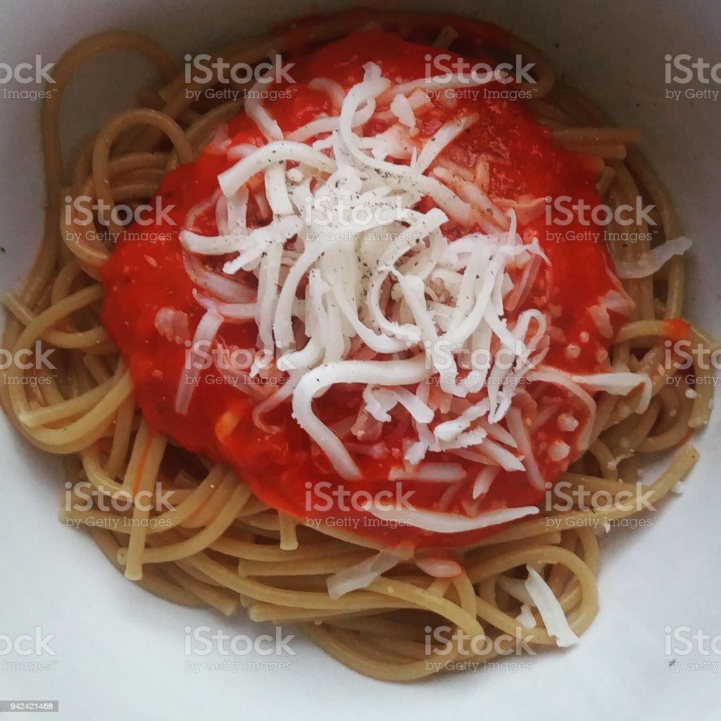 Spaghetti nest stock photo