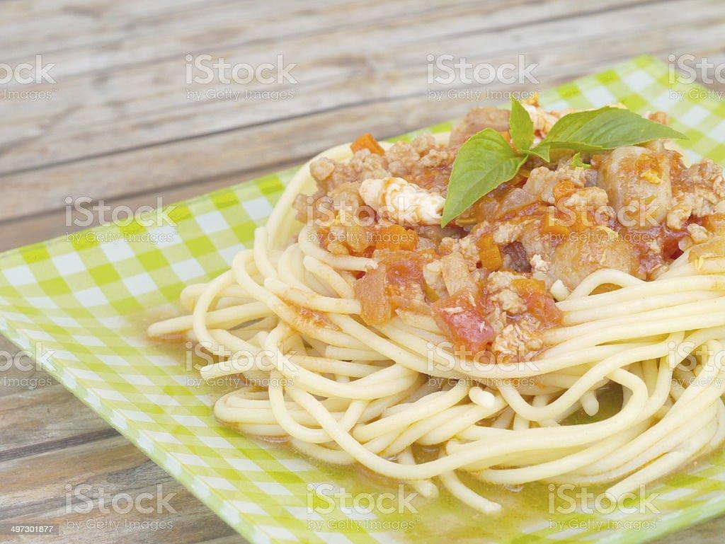 spaghetti old retro vintage style royalty-free stock photo