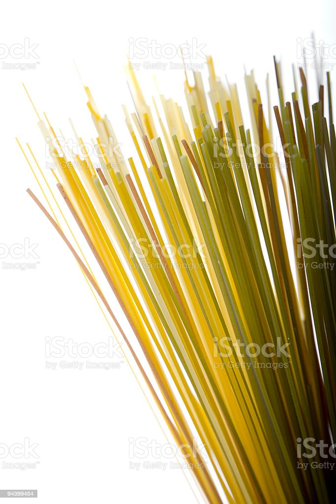 spaghetti pasta in assorted colors royalty-free stock photo