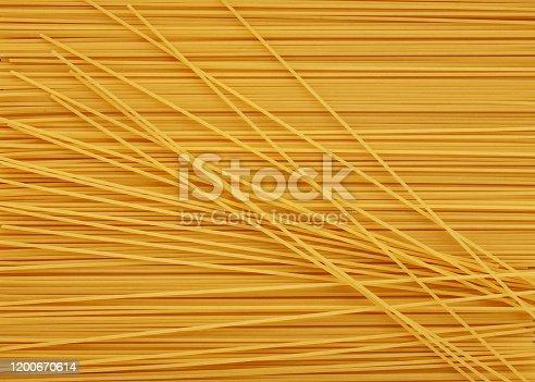 Pasta background made of Spaghetti