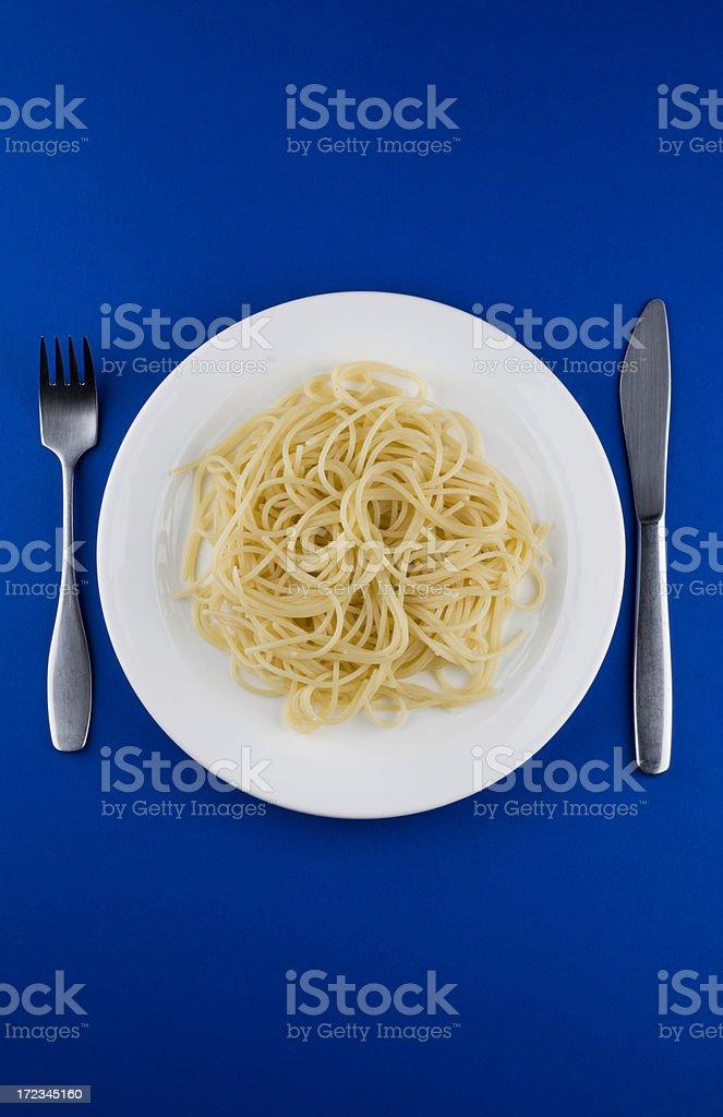 Spaghetti plate royalty-free stock photo
