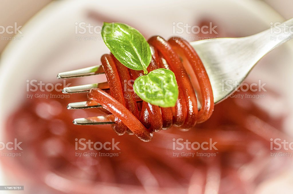 Spaghetti time royalty-free stock photo