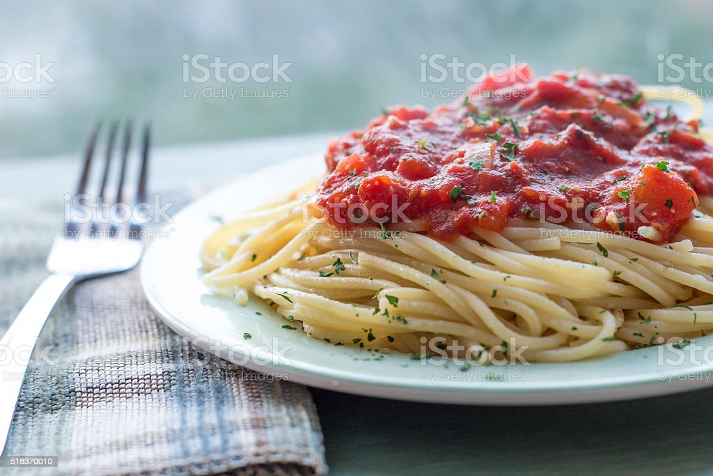 Spaghetti Tomato Sauce stock photo
