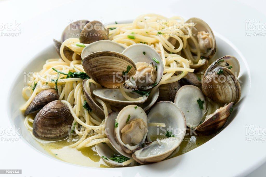 Spaghetti Vongole - foto de stock