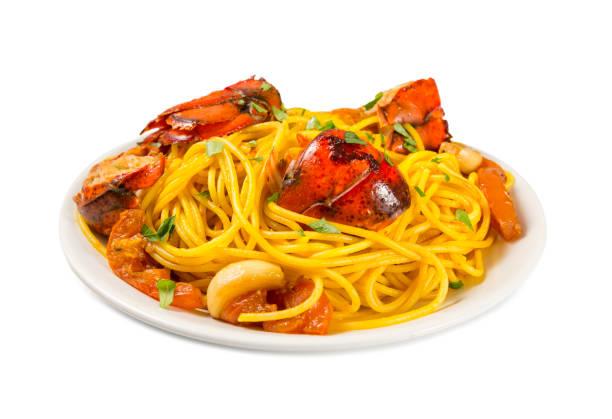 espaguetis con langosta - studioimagen73 fotografías e imágenes de stock