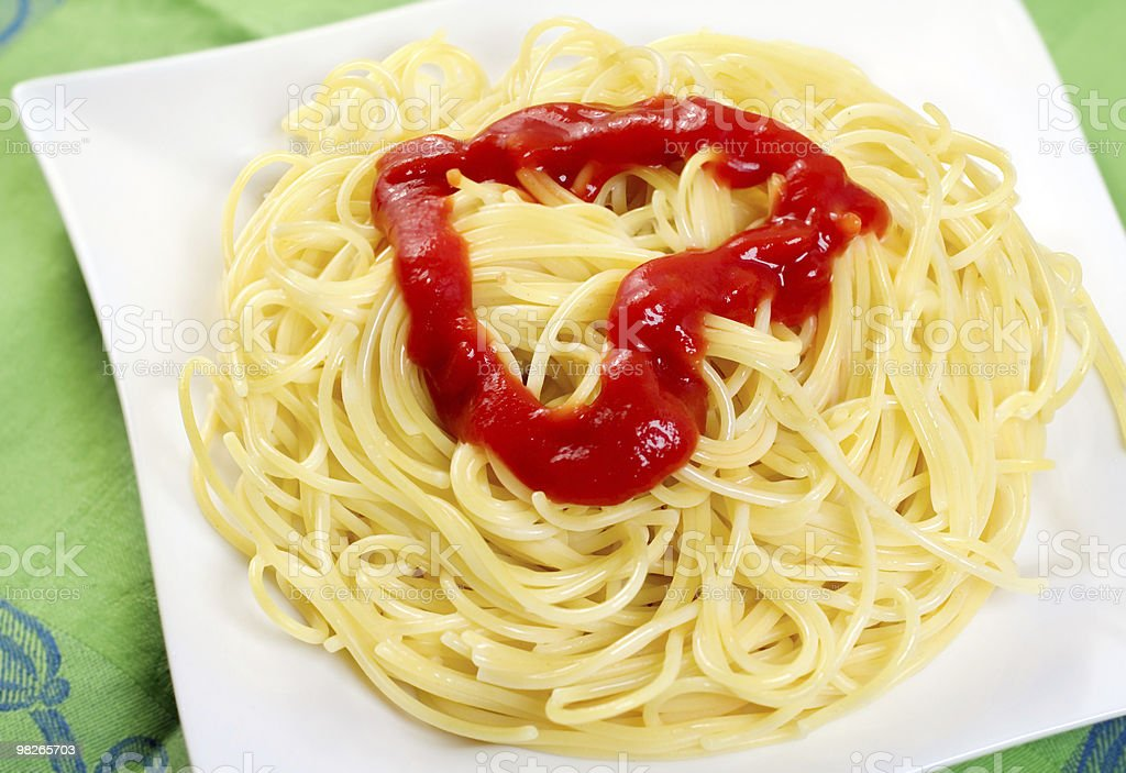 Spaghetti with tomato  sauce royalty-free stock photo