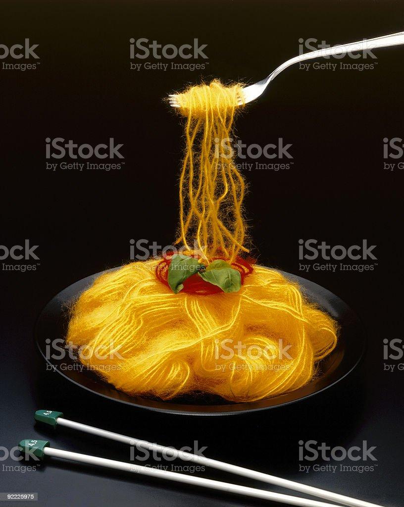 Spaghetti Wool royalty-free stock photo