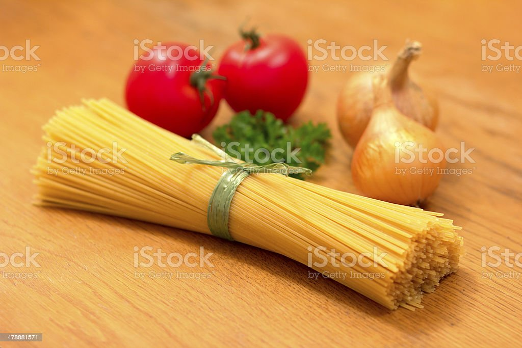 Spaghetti-Ingredients stock photo