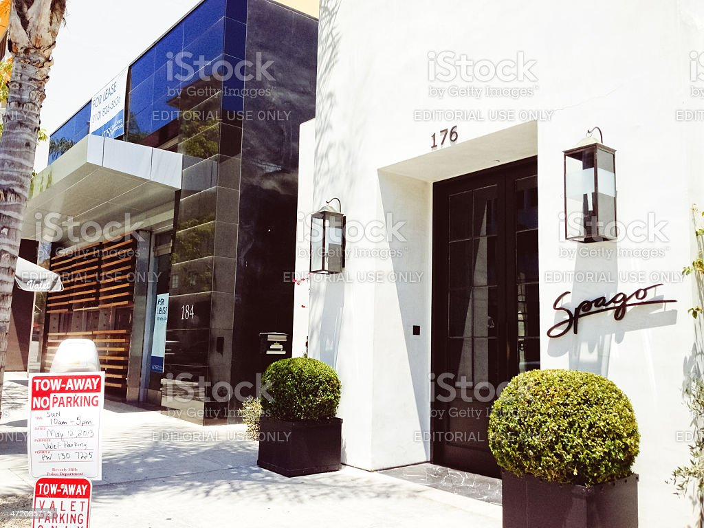 Spago, famous restaurant in Beverly Hills, California stock photo