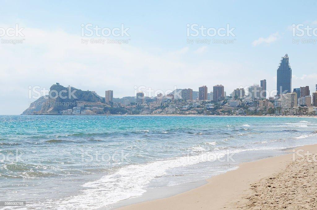 Spain, Benidorm, Beautiful clear mediterranean water photo libre de droits