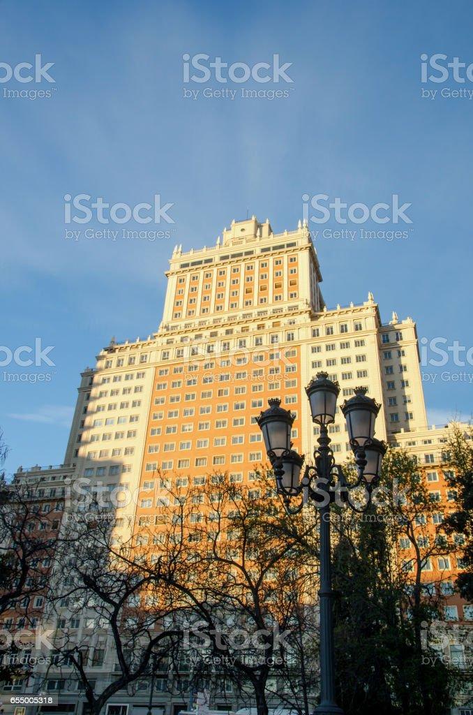 Spain Building Madrid stock photo