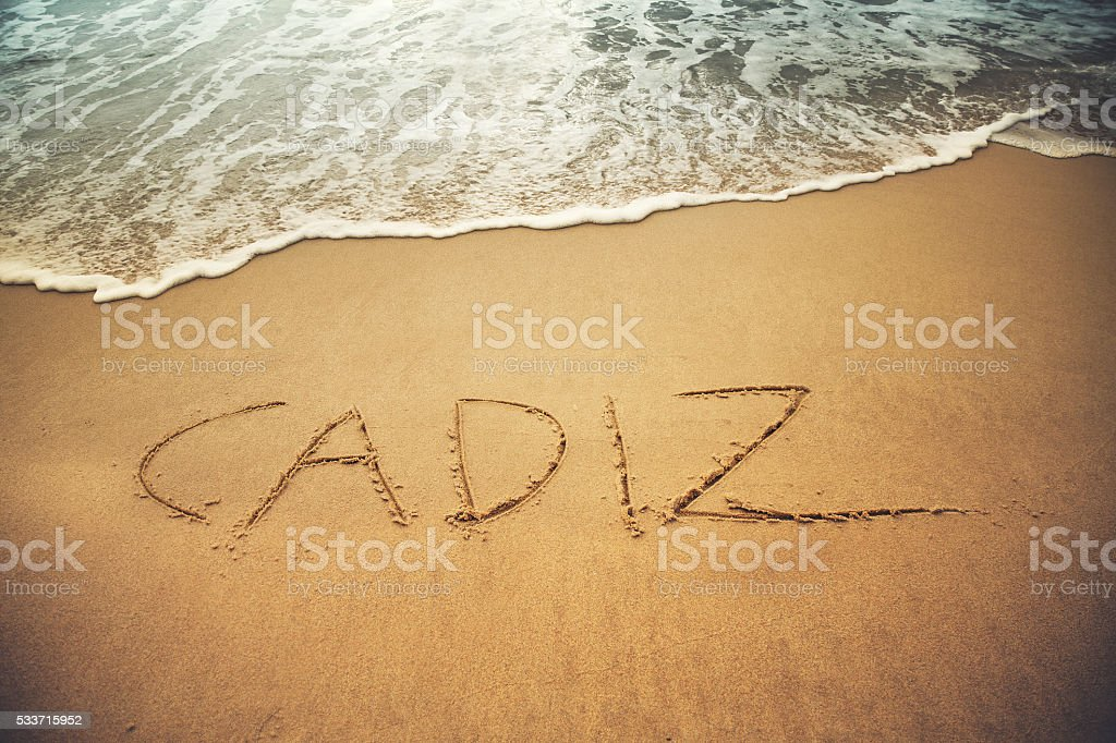 Spain Cadiz Beach stock photo