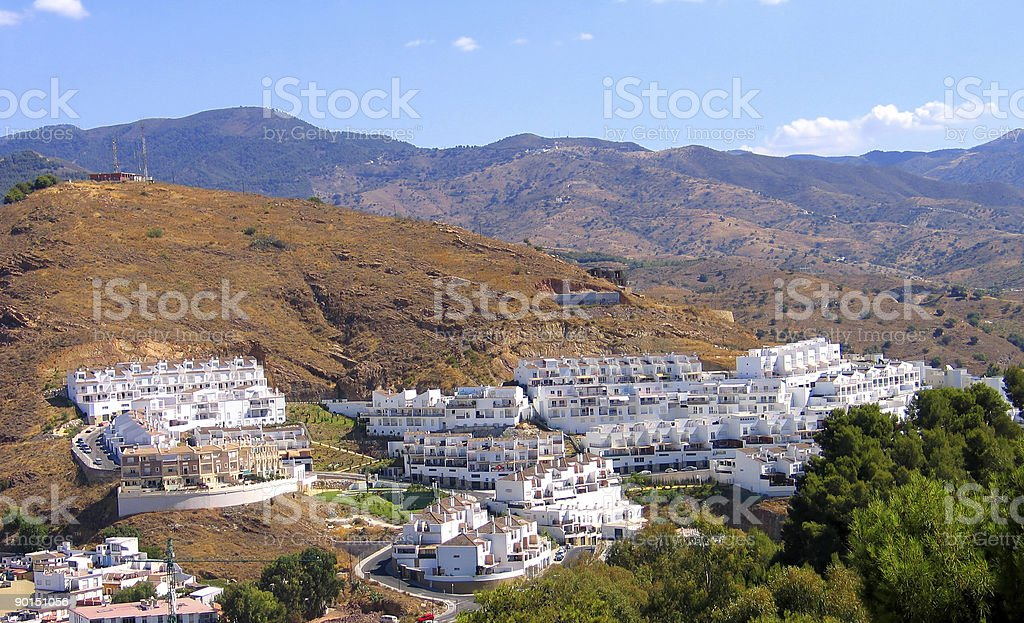 Spain cottage village in mountain royalty-free stock photo