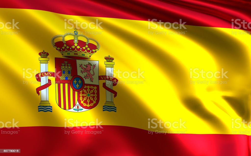 Spain flag stock photo