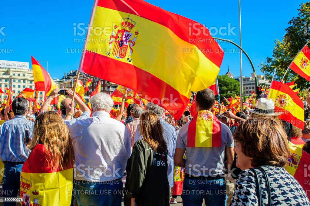 Spain flags - foto stock